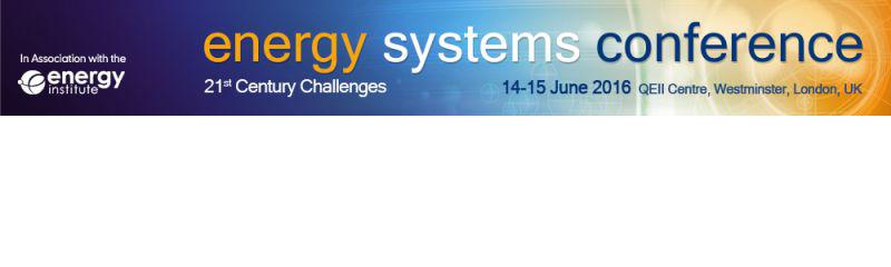 Energy Systems Conference 2016