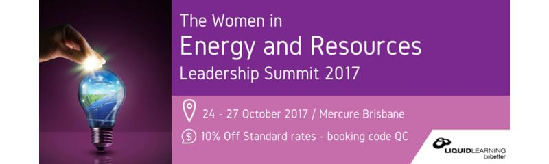 Women in Energy and Resources Leadership Summit 2017